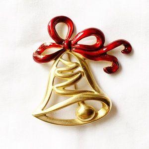 Christmas Bell Brooch Lapel Pin
